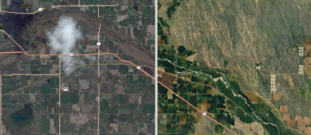 The South Platte River: before and after the historic Colorado floods